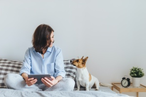 women doing pet sitting services and plant sitting a home in virginia